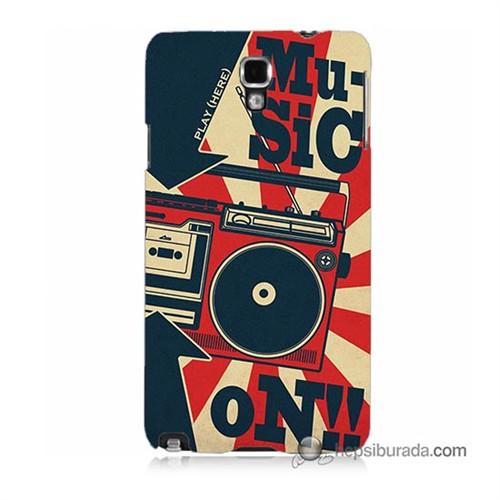 Teknomeg Samsung Galaxy Note 3 Neo Kapak Kılıf Müzik Baskılı Silikon