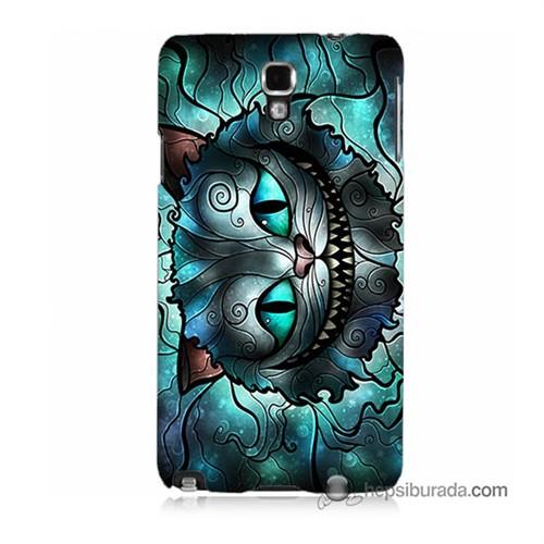 Teknomeg Samsung Galaxy Note 3 Neo Kapak Kılıf Alice Kedi Baskılı Silikon