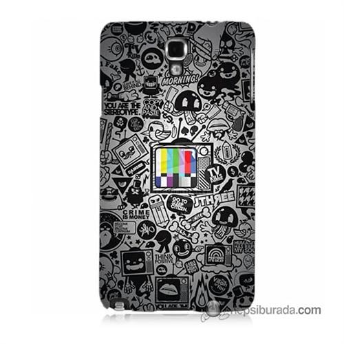 Teknomeg Samsung Galaxy Note 3 Neo Kapak Kılıf Renkli Tv Baskılı Silikon