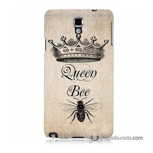 Teknomeg Samsung Galaxy Note 3 Neo Kılıf Kapak Queen Bee Baskılı Silikon