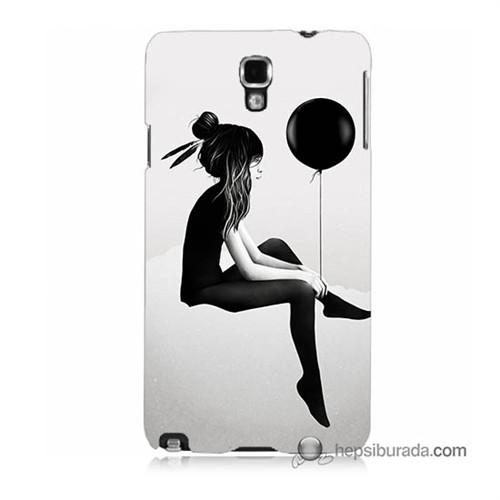 Teknomeg Samsung Galaxy Note 3 Neo Kapak Kılıf Balonlu Kız Baskılı Silikon