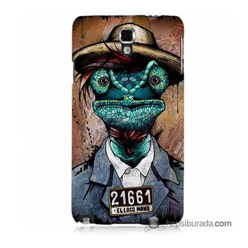 Teknomeg Samsung Galaxy Note 3 Neo Kılıf Kapak İguana Adam Baskılı Silikon