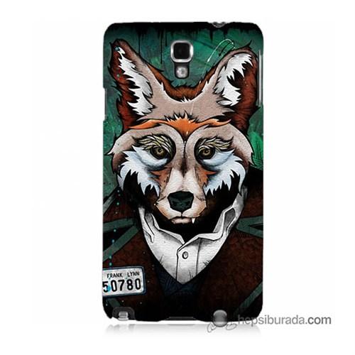 Teknomeg Samsung Galaxy Note 3 Neo Kılıf Kapak Bad Wolf Baskılı Silikon