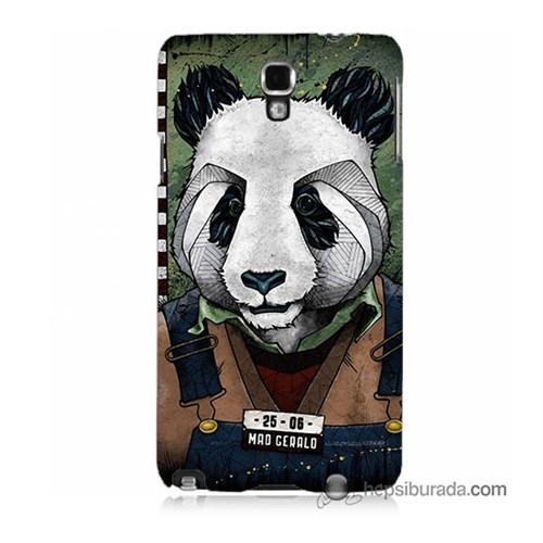Teknomeg Samsung Galaxy Note 3 Neo Kapak Kılıf İşçi Panda Baskılı Silikon