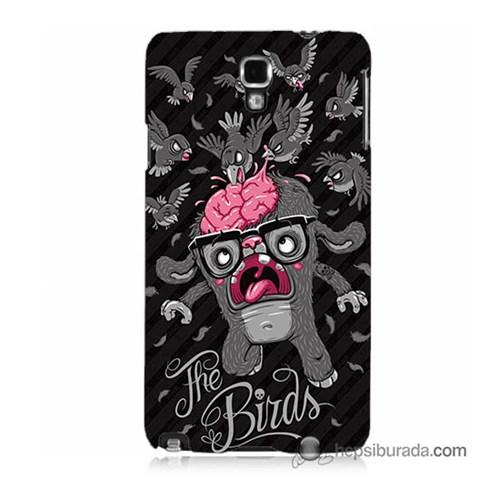 Teknomeg Samsung Galaxy Note 3 Neo Kılıf Kapak The Birds Baskılı Silikon