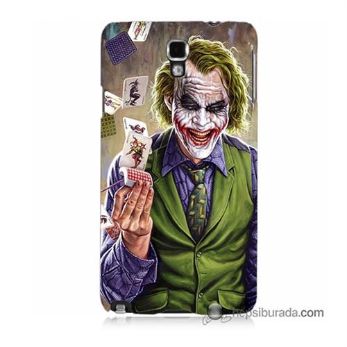 Teknomeg Samsung Galaxy Note 3 Neo Kılıf Kapak Kartlı Joker Baskılı Silikon