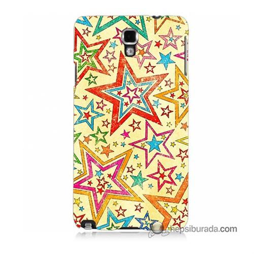 Teknomeg Samsung Galaxy Note 3 Neo Kılıf Kapak Yıldızlar Baskılı Silikon