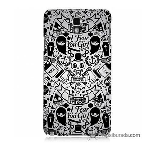 Teknomeg Samsung Galaxy Note 3 Neo Kılıf Kapak Karikatür Baskılı Silikon
