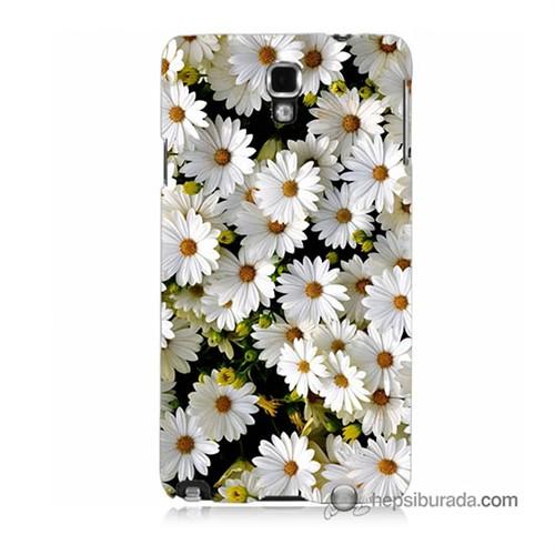 Teknomeg Samsung Galaxy Note 3 Neo Kılıf Kapak Papatyalar Baskılı Silikon
