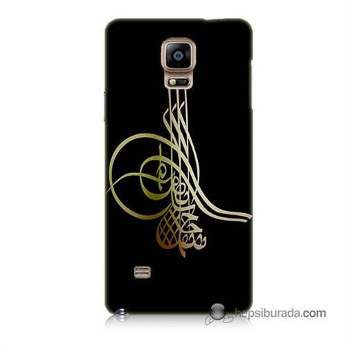 Teknomeg Samsung Galaxy Note 4 Kılıf Kapak Tuğra Osmanlı Baskılı Silikon