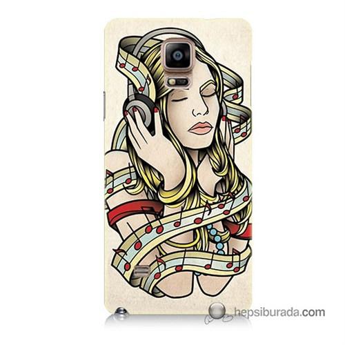 Teknomeg Samsung Galaxy Note 4 Kapak Kılıf Müzik Aşkı Baskılı Silikon