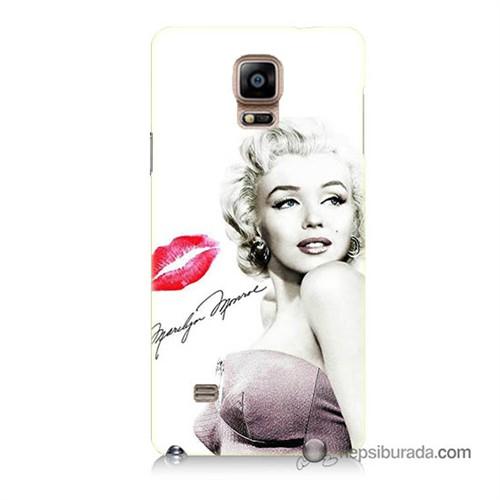 Teknomeg Samsung Galaxy Note 4 Kapak Kılıf Marilyn Monroe Baskılı Silikon
