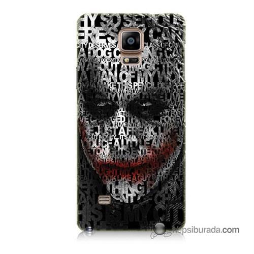 Teknomeg Samsung Galaxy Note 4 Kapak Kılıf Joker Baskılı Silikon
