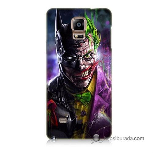 Teknomeg Samsung Galaxy Note 4 Kılıf Kapak Batman Vs Joker Baskılı Silikon