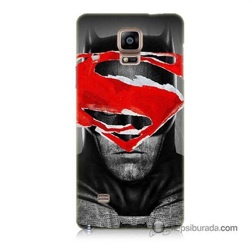 Teknomeg Samsung Galaxy Note 4 Kapak Kılıf Batman Vs Superman Baskılı Silikon