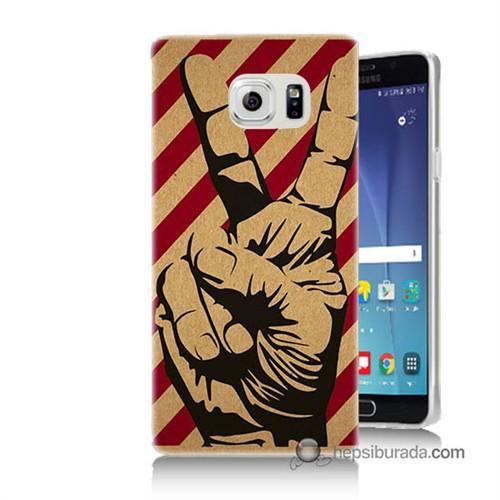 Teknomeg Samsung Galaxy Note 5 Kapak Kılıf Zafer Baskılı Silikon