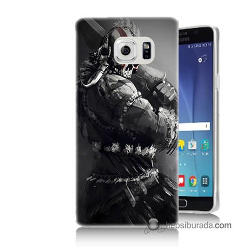Teknomeg Samsung Galaxy Note 5 Kılıf Kapak Tribal Warrior Baskılı Silikon