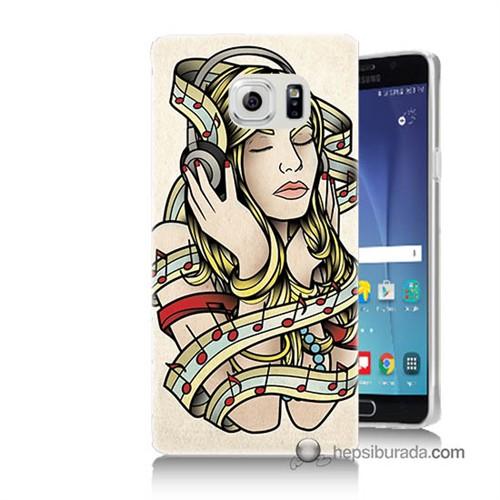 Teknomeg Samsung Galaxy Note 5 Kapak Kılıf Müzik Aşkı Baskılı Silikon