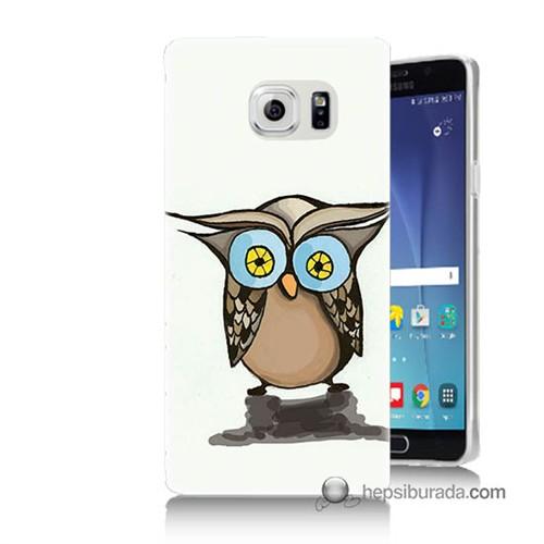 Teknomeg Samsung Galaxy Note 5 Kapak Kılıf Baykuş Baskılı Silikon