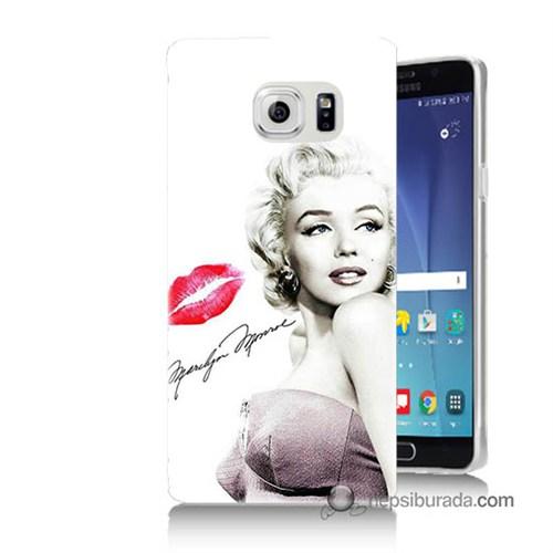 Teknomeg Samsung Galaxy Note 5 Kapak Kılıf Marilyn Monroe Baskılı Silikon