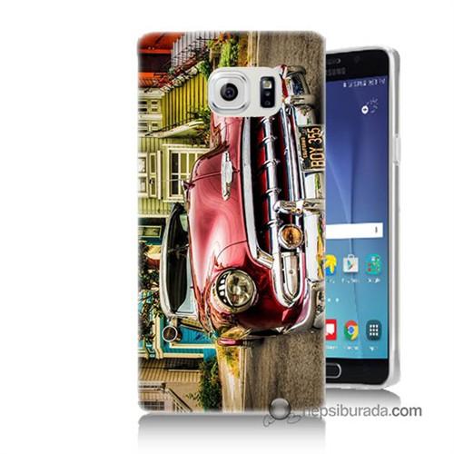Teknomeg Samsung Galaxy Note 5 Kapak Kılıf Klasik Araba Baskılı Silikon