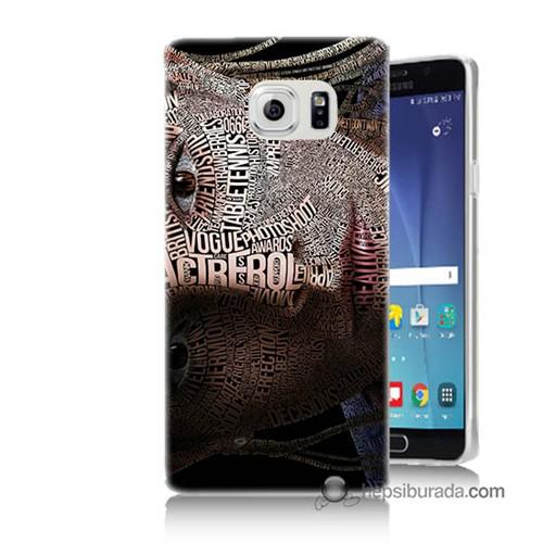 Teknomeg Samsung Galaxy Note 5 Kılıf Kapak Yazılı Kadın Baskılı Silikon