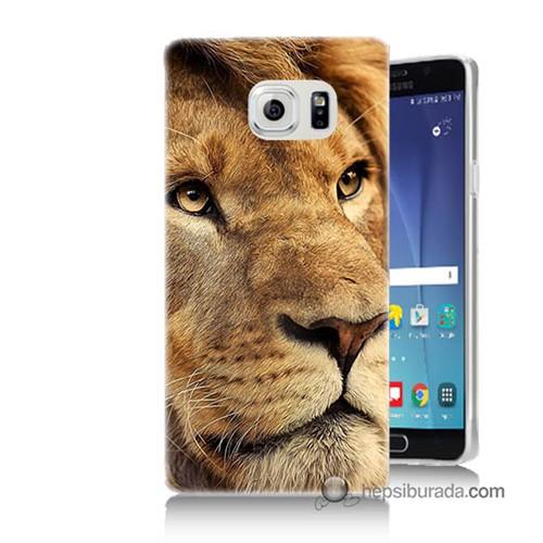 Teknomeg Samsung Galaxy Note 5 Kapak Kılıf Aslan Baskılı Silikon