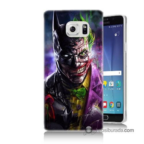 Teknomeg Samsung Galaxy Note 5 Kılıf Kapak Batman Vs Joker Baskılı Silikon