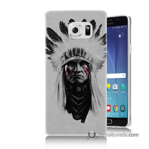 Teknomeg Samsung Galaxy Note 5 Kılıf Kapak Geronimo Baskılı Silikon
