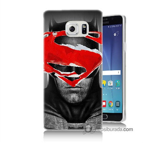 Teknomeg Samsung Galaxy Note 5 Kapak Kılıf Batman Vs Superman Baskılı Silikon