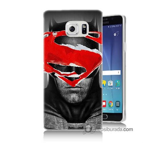 Teknomeg Samsung Galaxy Note 5 Kapak Kılıf Batman Vs Superman Baskılı Silikon
