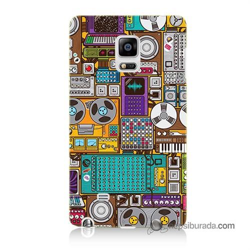 Teknomeg Samsung Galaxy Note Edge Kılıf Kapak Teknoloji Baskılı Silikon