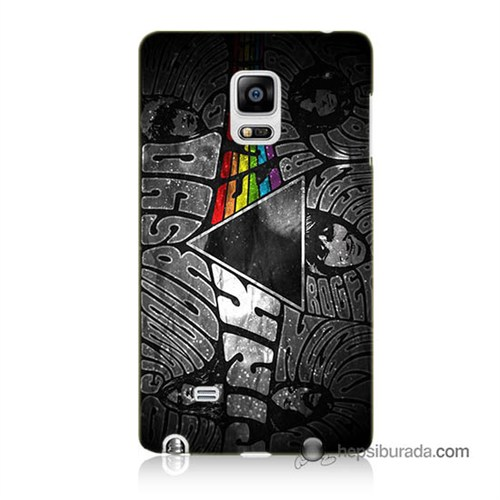 Teknomeg Samsung Galaxy Note Edge Kapak Kılıf Pink Floyd Baskılı Silikon