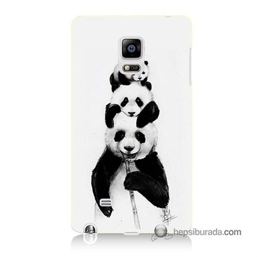 Teknomeg Samsung Galaxy Note Edge Kapak Kılıf Panda Ailesi Baskılı Silikon