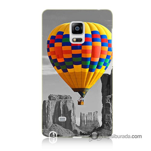 Teknomeg Samsung Galaxy Note Edge Kılıf Kapak Renkli Uçan Balon Baskılı Silikon