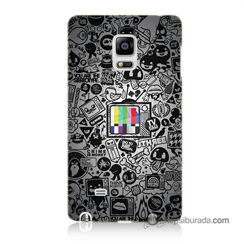 Teknomeg Samsung Galaxy Note Edge Kapak Kılıf Renkli Tv Baskılı Silikon