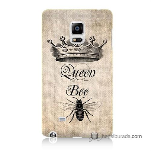 Teknomeg Samsung Galaxy Note Edge Kılıf Kapak Queen Bee Baskılı Silikon