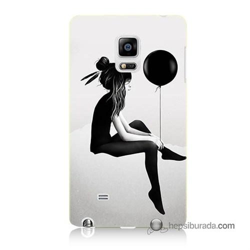 Teknomeg Samsung Galaxy Note Edge Kapak Kılıf Balonlu Kız Baskılı Silikon