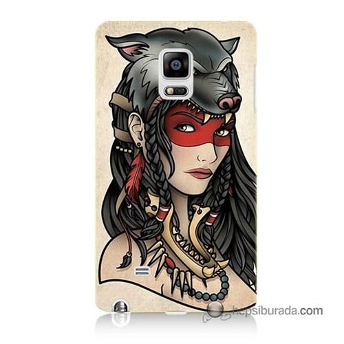 Teknomeg Samsung Galaxy Note Edge Kapak Kılıf Pocahontas Baskılı Silikon