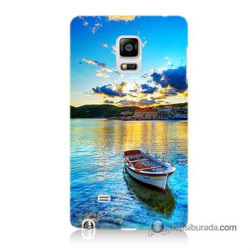 Teknomeg Samsung Galaxy Note Edge Kılıf Kapak Gün Batımında Deniz Baskılı Silikon