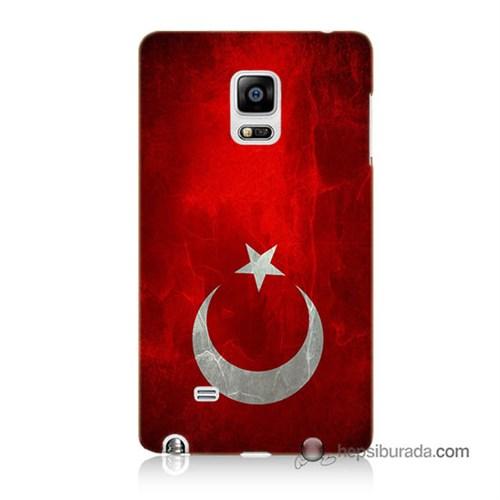 Teknomeg Samsung Galaxy Note Edge Kılıf Kapak Türkiye Bayrağı Baskılı Silikon