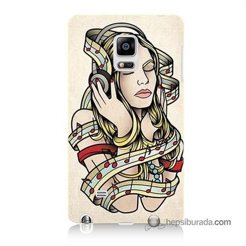 Teknomeg Samsung Galaxy Note Edge Kapak Kılıf Müzik Aşkı Baskılı Silikon