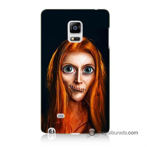 Teknomeg Samsung Galaxy Note Edge Kılıf Kapak Zombie Kız Baskılı Silikon