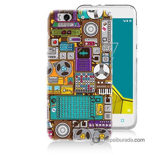 Teknomeg Vodafone Smart 6 Kılıf Kapak Teknoloji Baskılı Silikon