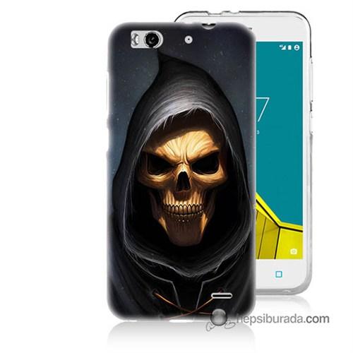 Teknomeg Vodafone Smart 6 Kılıf Kapak Ölüm Meleği Baskılı Silikon