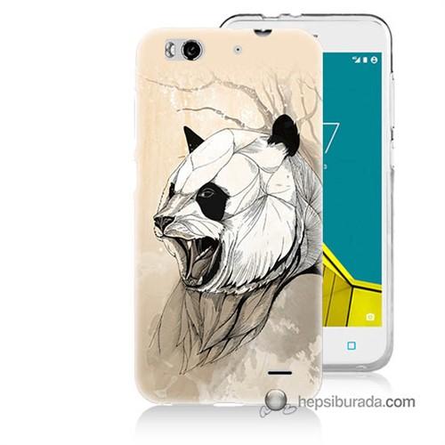 Teknomeg Vodafone Smart 6 Kapak Kılıf Kavgacı Panda Baskılı Silikon