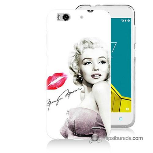 Teknomeg Vodafone Smart 6 Kapak Kılıf Marilyn Monroe Baskılı Silikon