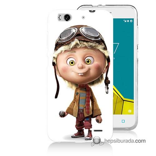 Teknomeg Vodafone Smart 6 Kılıf Kapak Çizgi Karakter Baskılı Silikon