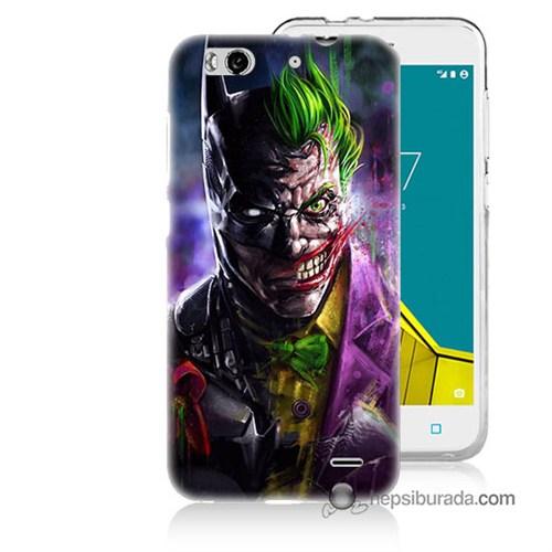 Teknomeg Vodafone Smart 6 Kılıf Kapak Batman Vs Joker Baskılı Silikon