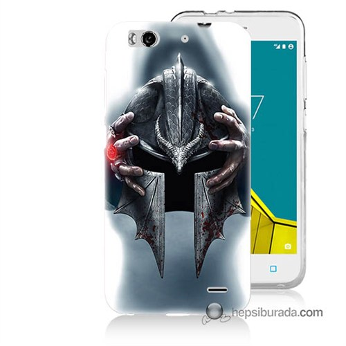 Teknomeg Vodafone Smart 6 Kılıf Kapak Assassins Creed Baskılı Silikon